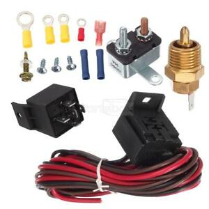 200 Degree Engine Cooling Thermostat Sensor Relay Kit For Single Or Dual Fan