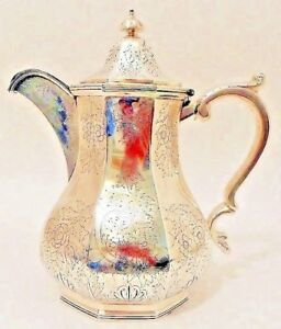 An Important Coin Silver Water Pitcher Charleston Sc Provenance Gale