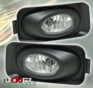 2004 2005 Acura Tsx Vip Driving Bumper Front Clear Red Rear Fog Lights Lamps