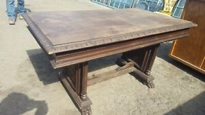 Antique Library Table Possible Spanish Influance