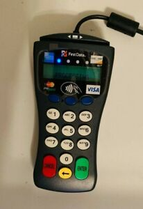 First Data Fd 30 Pin Pad Merchant Credit Card Terminal Used Good Condition