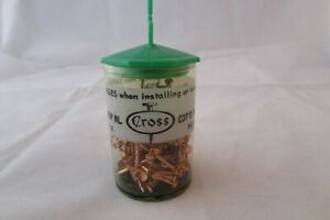 Vintage Cross Copper Weather Stripping Nails In Original Container 1 5 Oz