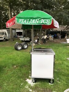 Ice Cream Cart With Umbrella Italian Ice Long Island New York