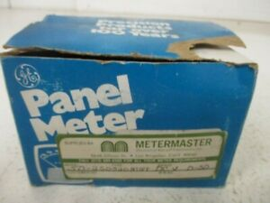 General Electric 50 250320ntnt Panel Meter 0 50 D c Volts New In Box