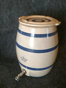 Robinson Ransbottom 2 Crown Stoneware Water Cooler Jug Crock W Lid