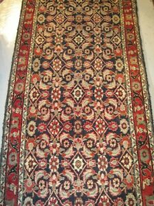Very Large Antique Hand Woven Wool Persian Tribal Rug Carpet Runner C1940