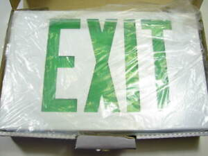 Lithonia Led Exit Sign Green Lettering White Housing New Lx S W 3 G 120 277