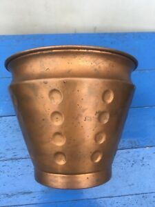 Vintage Copper Jardiniere Flower Pot Planter