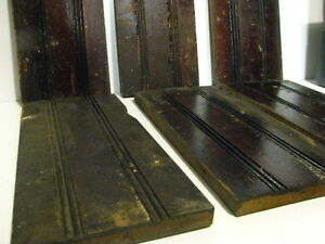 6 Antique Vintage 16 1 2 Victorian Plinth Base Trim Blocks Architectural Salvage