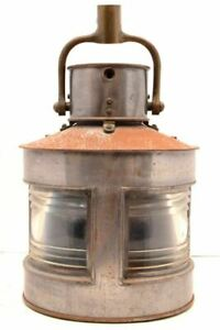 Ww2 Wwii British Navy Ship Lantern Light Antique Navigation Nautical Vtg Split