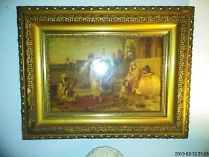 Antique Stunning Large Museum Guality Picture Frame W Luigi Crosio Picture