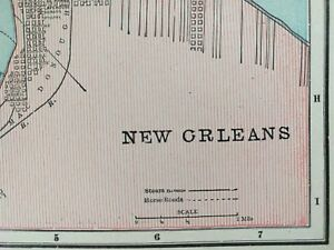 New Orleans Louisiana 1900 Vintage Atlas Map 11 X14 Old Antique Slidell Mapz