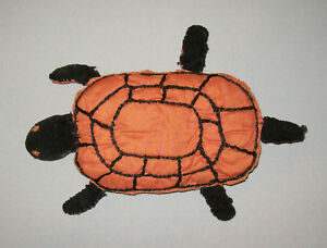 Old Antique Vtg Ca 1900s Cotton And Velvet Pin Cushion Turtle Shape Very Nice