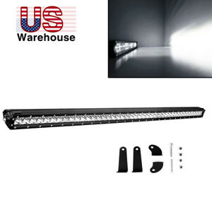 42inch 40 Straight Led Light Bar Single Row Offroad Driving Truck Suv Ford 4x4