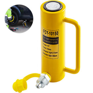 Hydraulic Cylinder Jack 10t 6 Solid Straightening Single Acting Metal Lift