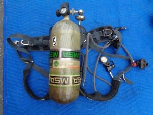 Breathing Apparatus Scba Backpack Regulator W Tank Msa H 60 Model 7 1537 1