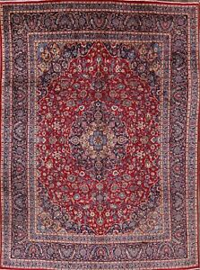 9x13 Red Kashmar Vintage Traditional Wool Persian Rug Hand Knotted Oriental Rugs