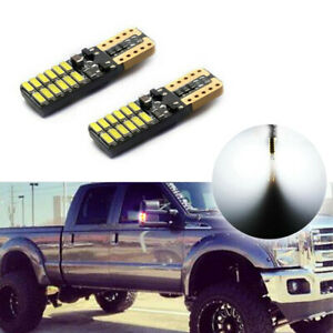 2x Can Bus White Led Bulbs Front Sidemarker Lights For 1999 2015 Ford Super Duty