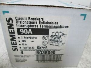 Lot Of 4 Siemens Bq3b090 Circuit Breaker 3 Pole 90amp new In Box