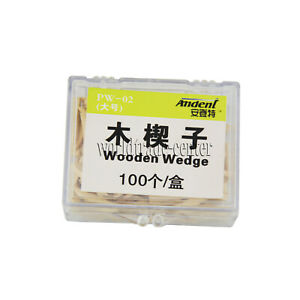 Hot 100 Pcs Dental Natural Interdental Wooden Wedges Middle Size Wood Wedge