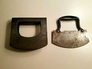 Primitive Chopping Tools Antique Cutting Blades Kitchen Food Choppers Lot Of 2