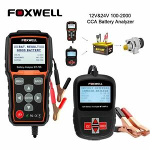12v 24v Car Battery System Diagnostic Analyzer Tester Tool Printer Foxwell Bt705