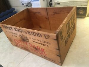 Antique Cutty Sark Wooden Shipping Crate