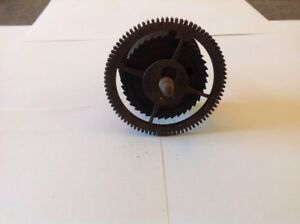 Antique Longcase Grandfather Clock Drive Wheel Cog Weight Driven 73 5mm