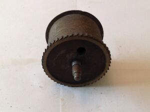 Antique Longcase Grandfather Clock Drive Wheel Cog Weight Driven 56mm