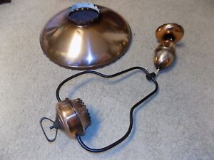 Vintage Hanging Chandelier Copper Look Disc Pull Down Ceiling Light Lamp