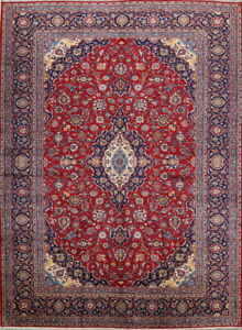 Vintage Traditional Floral Persian Hand Knotted Wool Oriental 10x13 Large Rugs