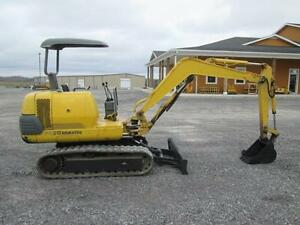 Komatsu Pc20 7 Used Mini Excavator Tractor Diesel Dozer Rubber Tracks