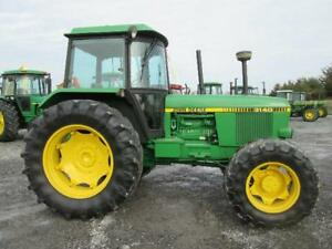 John Deere 3140 Tractor Used 4x4 Cab Diesel Pto 3pt Hitch