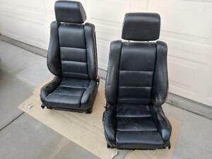 Bmw M5 Factory Black Leather Heated Sport Seats In Good Condition Rare