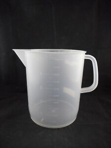Kartell Plastic 5000ml 5l Low form Polypropylene Beakers With Handle Spout