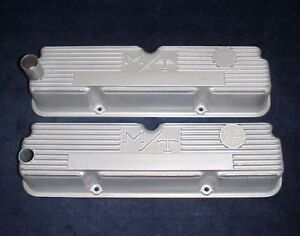 Vintage 427 H P Ford Fe Aluminum M T Valve Covers Mickey Thompson Thunderbolt