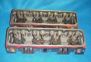 Pair Of Dart Iron Eagle S S Small Block Chevy Cylinder Heads 2 02 1 60 327 350