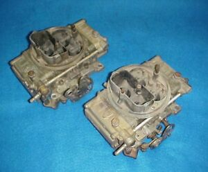 Used Pair Holley 4224 Tunnel Ram Carbs Carburetors 660 Cfm Center Squirter 2x4