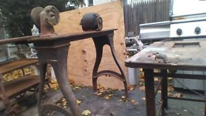 Antique Brown Sharpe Cast Iron Table Base Very Rare Size
