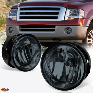 For 07 14 Ford Expedition Ranger Oe Style Smoke Lens Front Bumper Fog Light Lamp