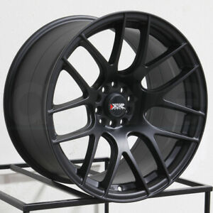 19x8 75 Xxr 530 5x100 5x114 3 35 Flat Black Wheels Rims Set 4
