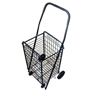 Techtongda Folding Shopping Cart Jumbo Size Basket With Wheels
