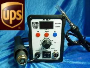 At8586 Hot Air Gun 2 In 1 Rework Station Soldering Iron A3