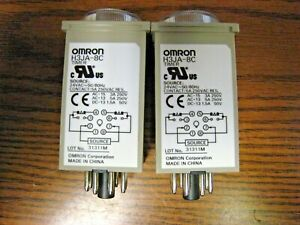 Lot Of 2 Omron H3ja 8c Dial Timer Relay 24vac 50 60hz Free Shipping