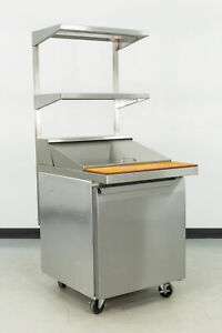 Used Continental Sw27 12m 27 1 Door Refrigerated Sandwich Prep Table