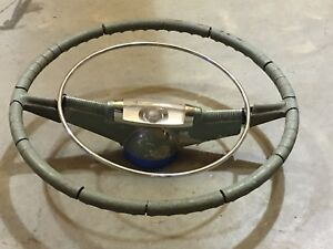 Vintage 1940 s 50 s Oldsmobile Original Steering Wheel Car Auto Parts Cool Art