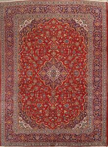 Antique Traditional Floral Rug 10x13 Hand Knotted Persian Oriental Area Carpet