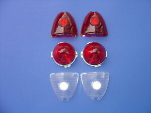 1953 53 Chevrolet Bel Air 210 150 Taillight Backup Lens Kit 6 Pieces new