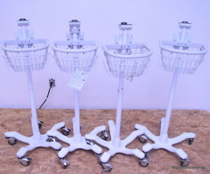 Lot Of 4 Medical Instruments Stand Pole Alaris Dinamap Welch Allyn