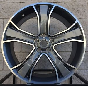 22 Range Rover Manchester Style Wheel Tires Package Gunmetal Machine Face Rims